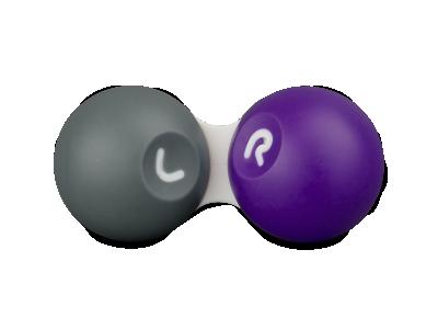 Puzdro na kontaktné šošovky šedo-fialové