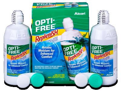 OPTI-FREE RepleniSH 2x300ml  - Economy duo pack- solution