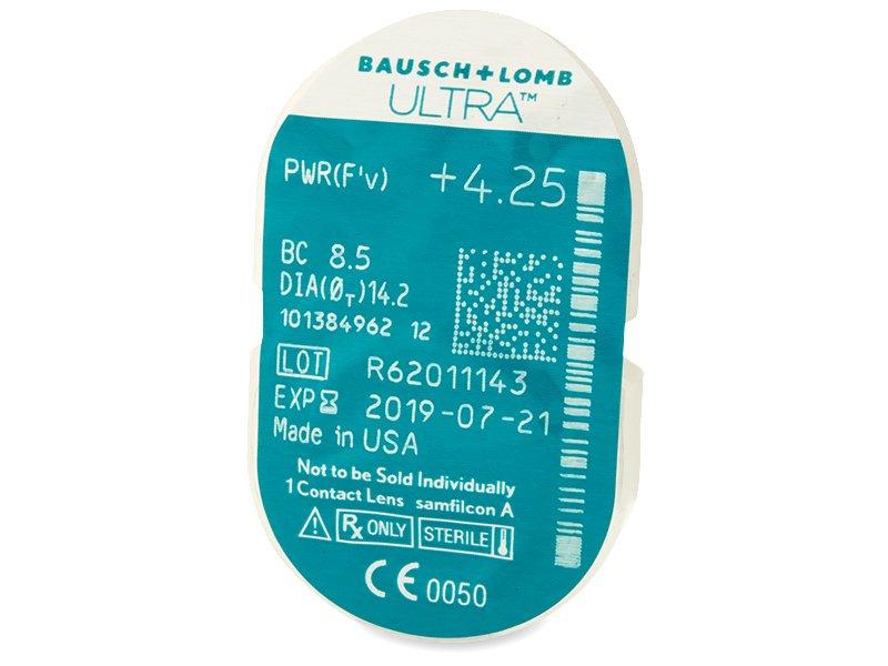 Bausch + Lomb ULTRA (6 šošoviek) - Vzhľad blistra so šošovkou