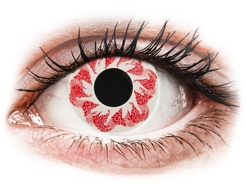 CRAZY LENS - Atom Bomb - nedioptrické jednodenné (2 šošovky) - Coloured contact lenses