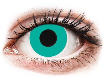 CRAZY LENS - Solid Turquoise - nedioptrické jednodenné (2 šošovky)