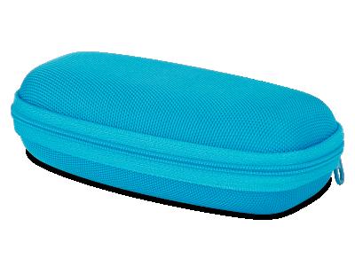 Puzdro so zipsom na detské okuliare modré