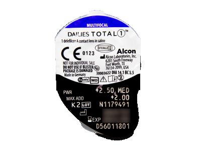 Dailies TOTAL1 Multifocal (30 šošoviek) - Vzhľad blistra so šošovkou