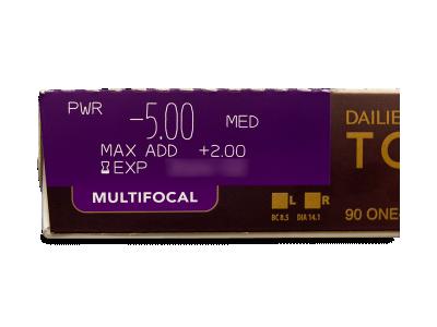 Dailies TOTAL1 Multifocal (90 šošoviek) - Náhľad parametrov šošoviek
