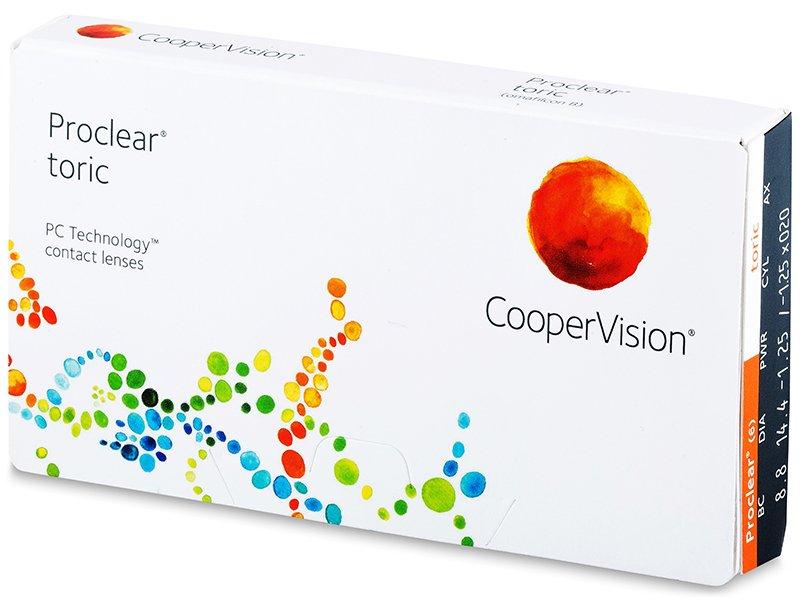 Proclear Toric (3 šošovky) - Tórické kontaktné šošovky