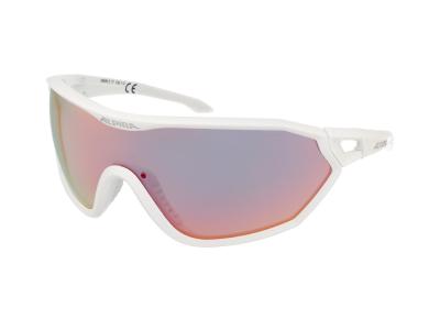 Slnečné okuliare Alpina S-Way QVM+ White Matt/Quattro Varioflex Rainbow Mirror