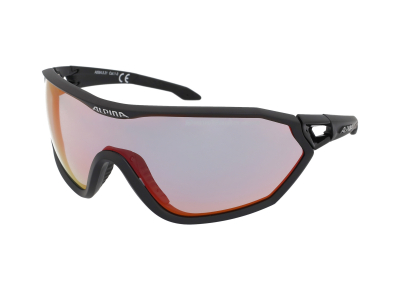 Slnečné okuliare Alpina S-Way QVM+ Black Matt/Quattro Varioflex Rainbow Mirror