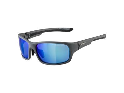 Slnečné okuliare Alpina Lyron S Cool Grey Matt Black/Blue Mirror