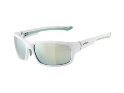 Slnečné okuliare Alpina Lyron S White Matt Pistachio/Emerald Mirror