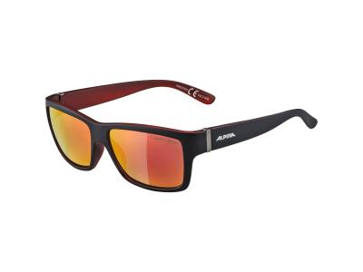 Slnečné okuliare Alpina Kacey Black Matt Red/Red Mirror