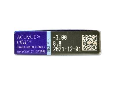 Náhľad parametrov šošoviek - Acuvue Vita (6 šošoviek)