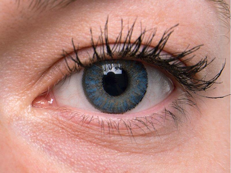 Blue na šedom oku