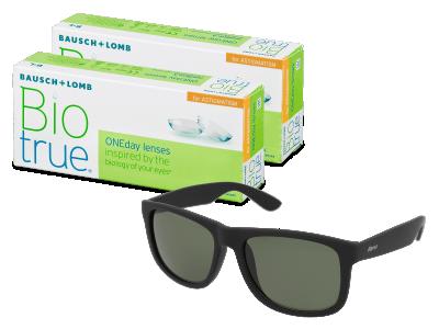 Biotrue ONEday for Astigmatism (2x 30 šošoviek) + slnečné okuliare Alensa ZADARMO