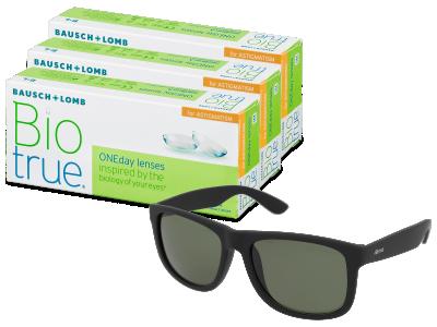 Slnečné okuliare Biotrue ONEday for Astigmatism (90 šošoviek) + slnečné okuliare Alensa ZADARMO