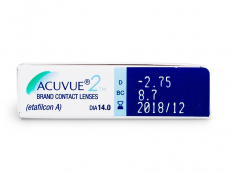 Acuvue 2 (6šošoviek) - Náhľad parametrov šošoviek