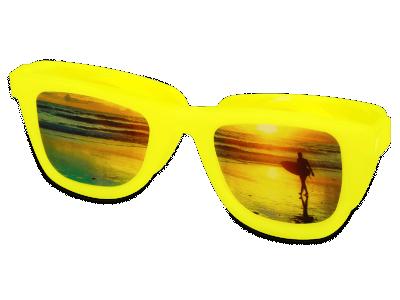 Puzdro na šošovky Optishades - žlté