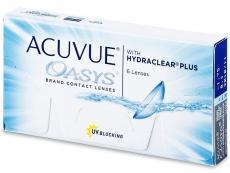 Dvojtýždenné kontaktné šošovky - Acuvue Oasys (6šošoviek)