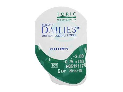 Focus Dailies Toric (30šošoviek) - Vzhľad blistra so šošovkou