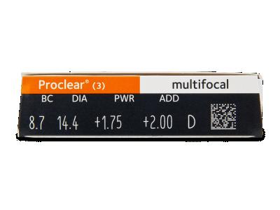 Proclear Multifocal (3šošovky) - Náhľad parametrov šošoviek