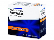 Torické (astigmatické) kontaktné šošovky - PureVision Toric (6šošoviek)