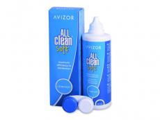 Roztoky na kontaktné šošovky - Roztok Avizor All Clean Soft 350 ml