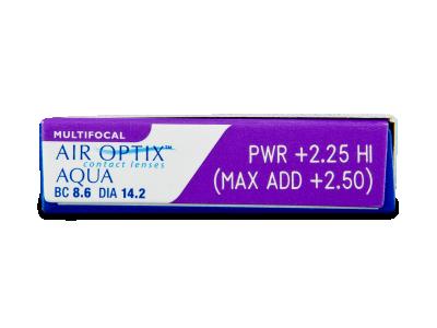 Air Optix Aqua Multifocal (3šošovky) - Náhľad parametrov šošoviek
