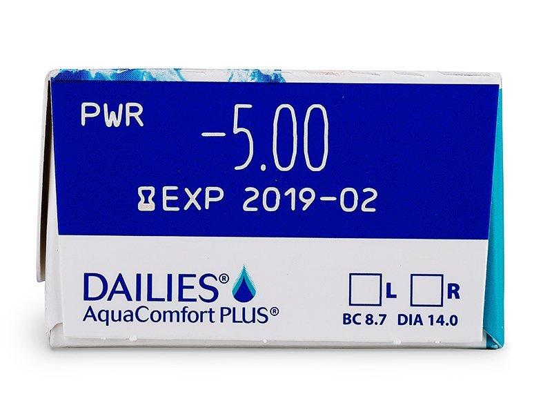 Dailies AquaComfort Plus (30šošoviek) - Náhľad parametrov šošoviek