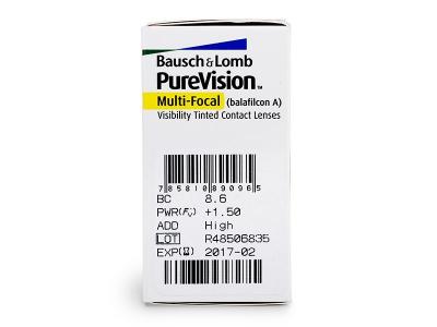 PureVision Multi-Focal (6šošoviek) - Náhľad parametrov šošoviek