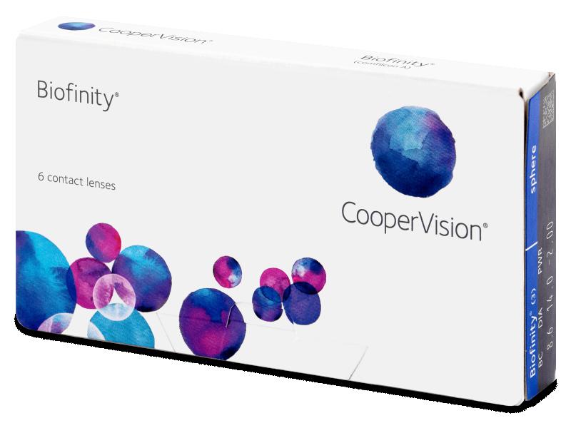 Biofinity (6šošoviek) - Mesačné kontaktné šošovky - Cooper Vision