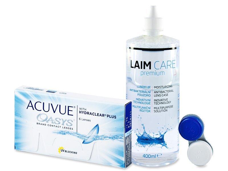 Acuvue Oasys (6šošoviek) + roztok LaimCare400ml - Výhodný balíček