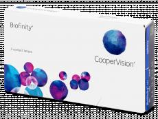 Mesačné kontaktné šošovky - Biofinity (3šošovky)