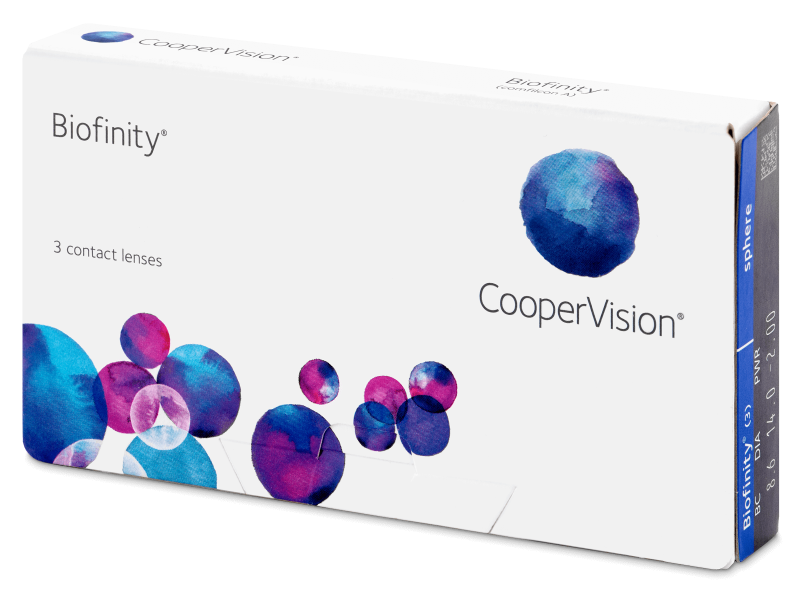 603968f30 Biofinity (3 šošovky) - Monthly contact lenses - Cooper Vision