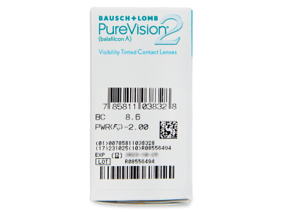 PureVision 2 (6šošoviek) - Náhľad parametrov šošoviek