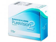 Mesačné kontaktné šošovky - PureVision 2 (6šošoviek)