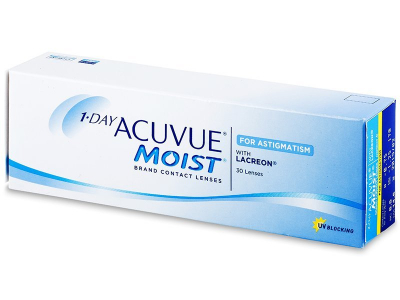 1 Day Acuvue Moist for Astigmatism (30 šošoviek)