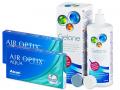 Air Optix Aqua  (2x3 šošovky) +roztokGelone360ml