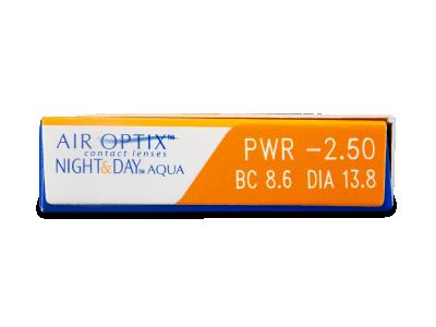 Air Optix Night and Day Aqua (6šošoviek) - Náhľad parametrov šošoviek