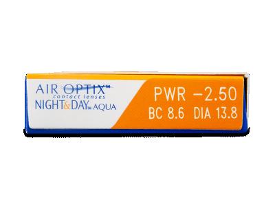Air Optix Night and Day Aqua (3šošovky) - Náhľad parametrov šošoviek