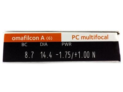 Proclear Multifocal (6šošoviek) - Náhľad parametrov šošoviek